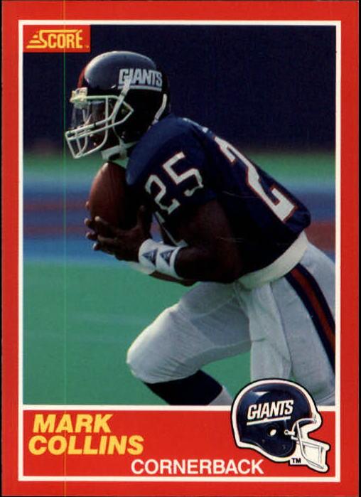 1989 Score #117 Mark Collins RC