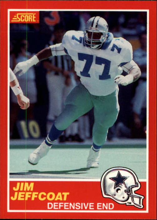 1989 Score #143 Jim Jeffcoat
