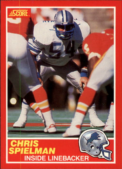 1989 Score #167 Chris Spielman RC