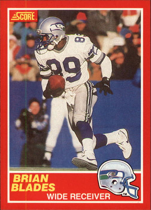 1989 Score #176 Brian Blades RC UER/(Photo on back is/reversed negative)