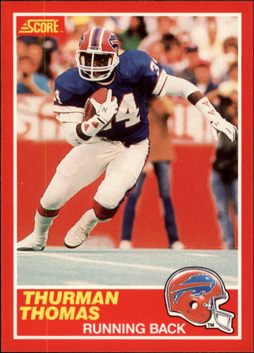 1989 Score #211 Thurman Thomas RC