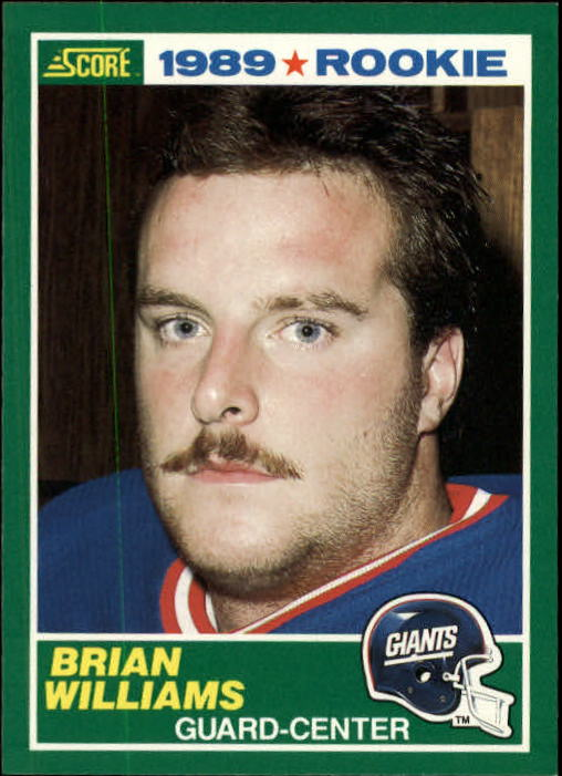 1989 Score #266 Brian Williams OL RC