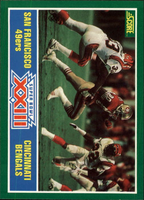 1989 Score #275 Super Bowl XXIII/49ers over Bengals/(Joe Montana and/Jerry Rice)
