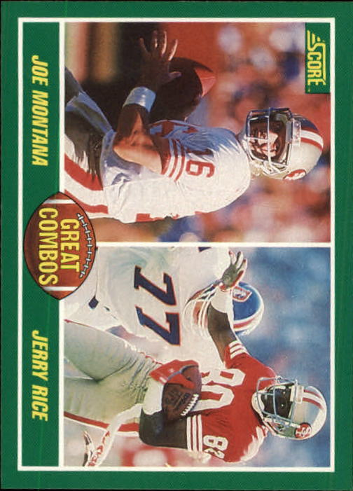 1989 Score #279 Joe Montana/Jerry Rice