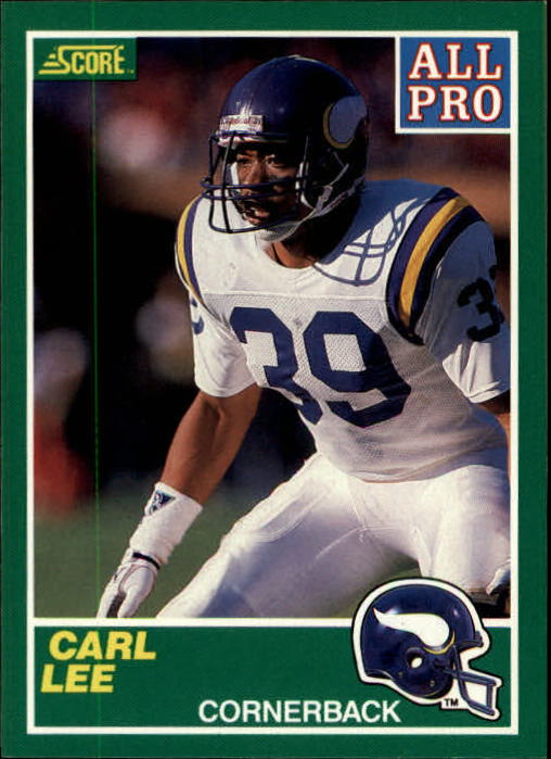 1989 Score #289 Carl Lee AP RC