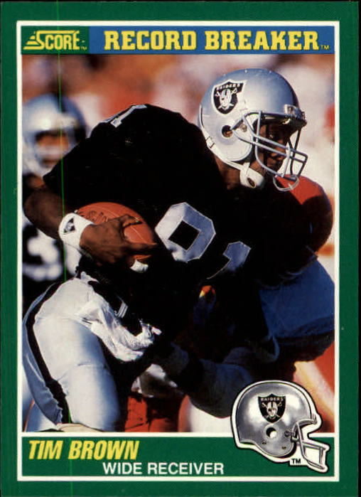 1989 Score #328 Tim Brown RB