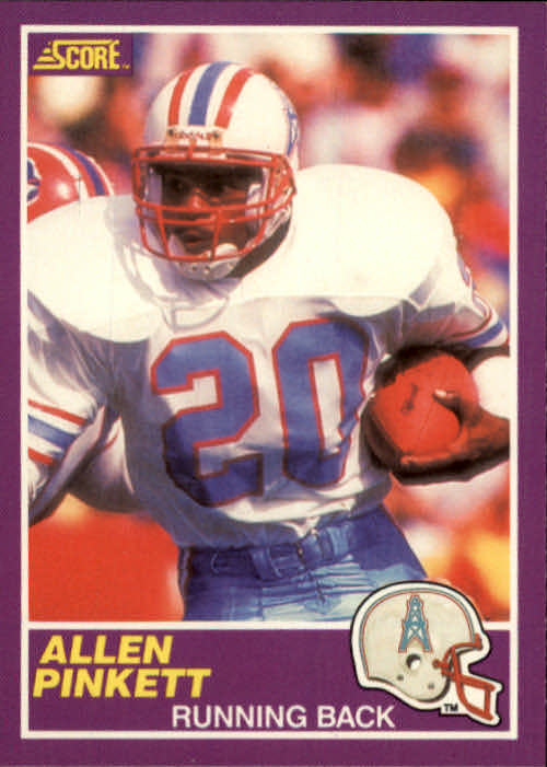 1989 Score Supplemental #332S Allen Pinkett RC