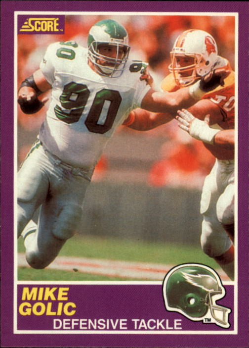 1989 Score Supplemental #403S Mike Golic RC