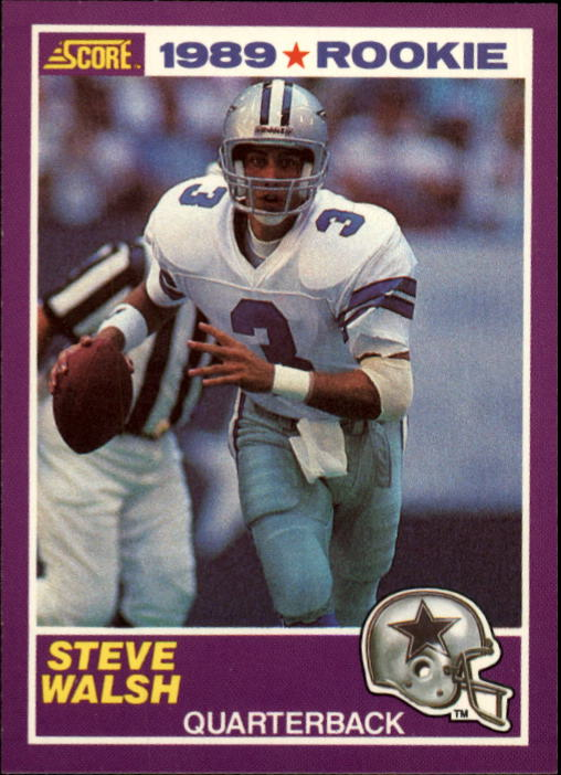 1989 Score Supplemental #438S Steve Walsh RC