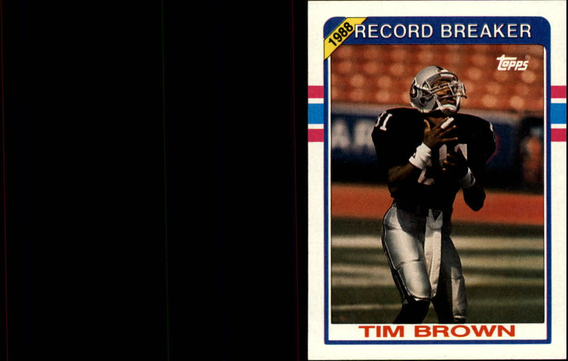 1989 Topps #2 Tim Brown RB