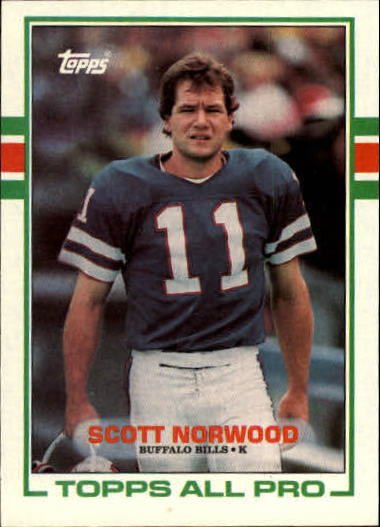 1989 Topps #42 Scott Norwood RC