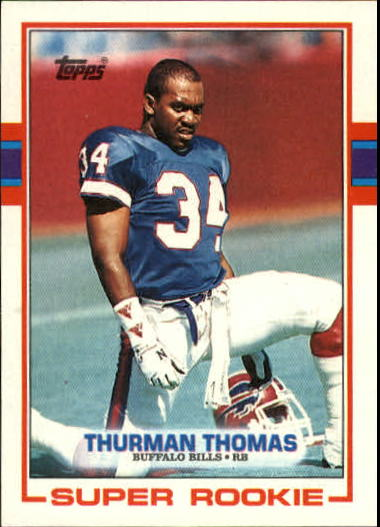 1989 Topps #45 Thurman Thomas RC