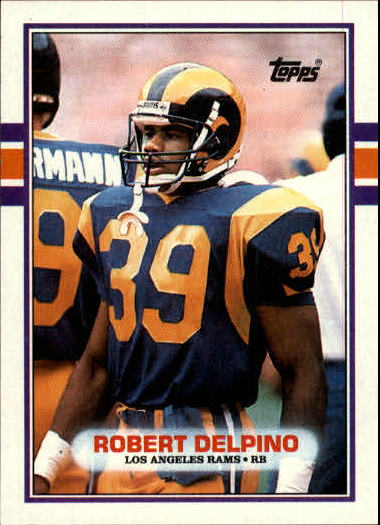 1989 Topps #125 Robert Delpino UER RC