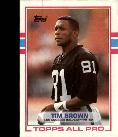 1989 Topps #265 Tim Brown RC