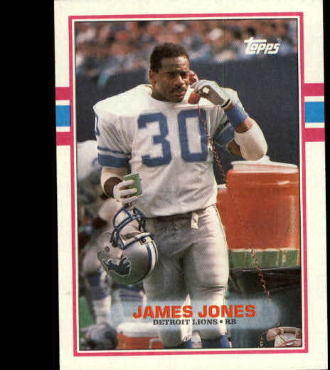 1989 Topps #366 James Jones FB
