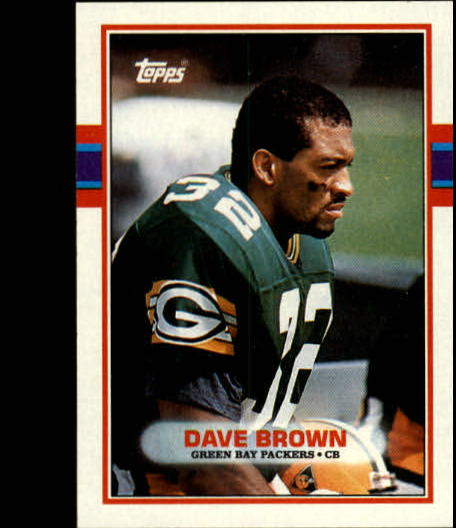 1989 Topps #377 Dave Brown DB