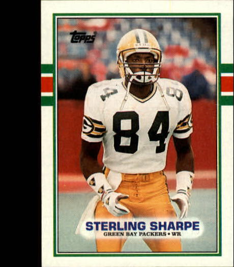 1989 Topps #379 Sterling Sharpe RC
