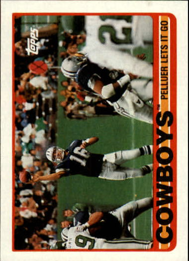 1989 Topps #382 Cowboys Team