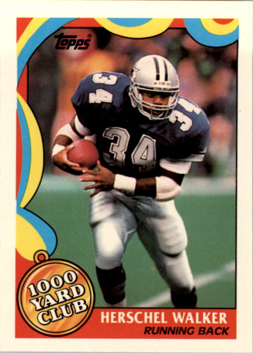 1989 Topps 1000 Yard Club #2 Herschel Walker