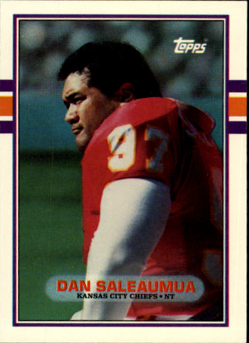 1989 Topps Traded #7T Dan Saleaumua RC