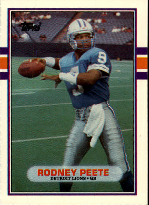 1989 Topps Traded #9T Rodney Peete RC