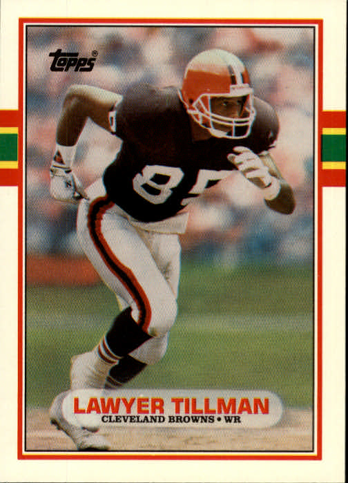 1989 Topps Traded #41T Lawyer Tillman RC