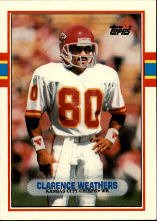 1989 Topps Traded #48T Clarence Weathers RC