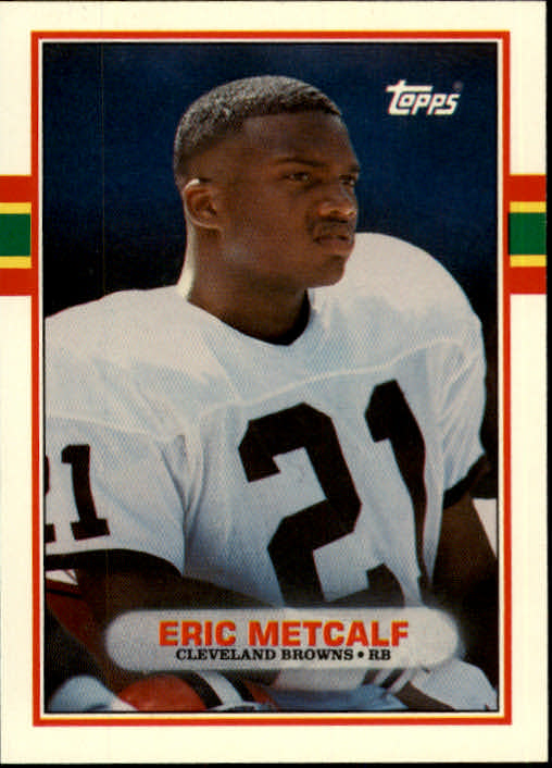 1989 Topps Traded #50T Eric Metcalf RC