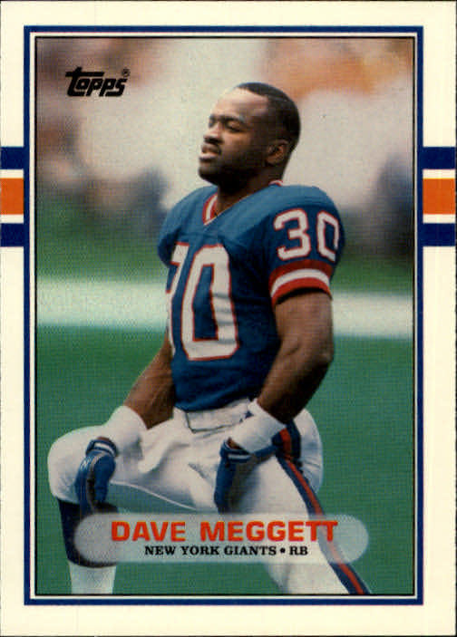 1989 Topps Traded #67T Dave Meggett RC