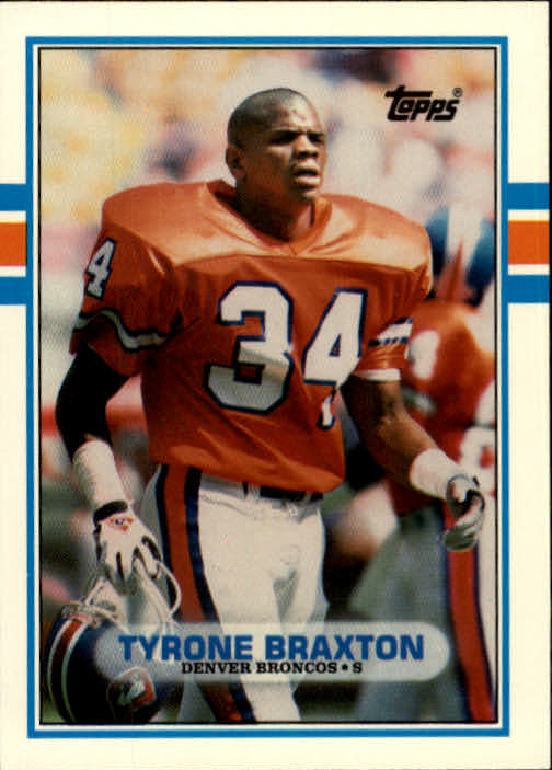 1989 Topps Traded #82T Tyrone Braxton RC