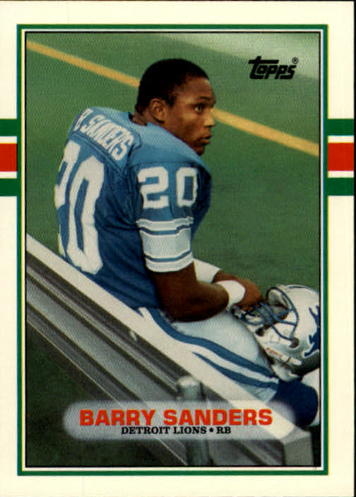 1989 topps traded 83t barry sanders rc