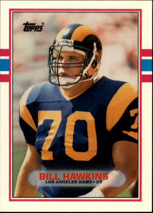 1989 Topps Traded #89T Bill Hawkins RC