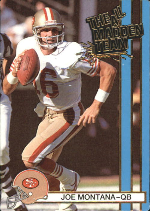 1990 Action Packed All-Madden #1 Joe Montana front image