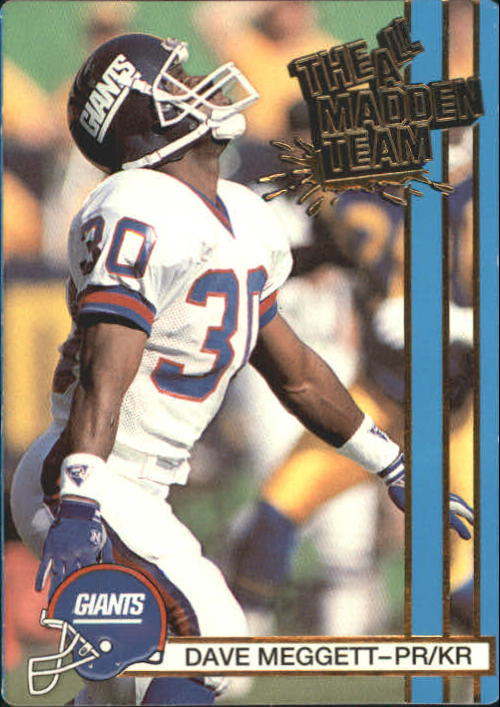 1990 Action Packed All-Madden #5 Dave Meggett