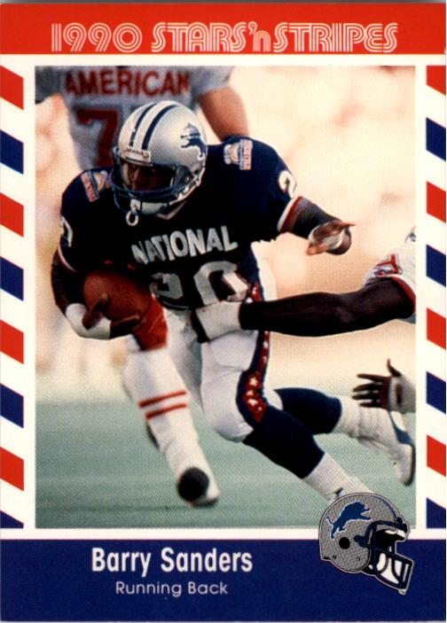 1990 Fleer Stars and Stripes #44 Barry Sanders