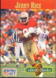1990 Pro Set Collect-A-Books #8 Jerry Rice