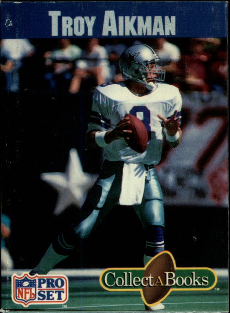1990 Pro Set Collect-A-Books #17 Troy Aikman