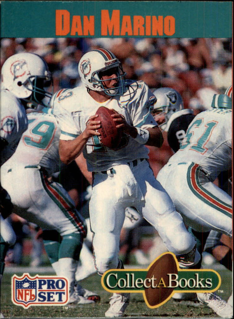 1990 Pro Set Collect-A-Books #18 Dan Marino