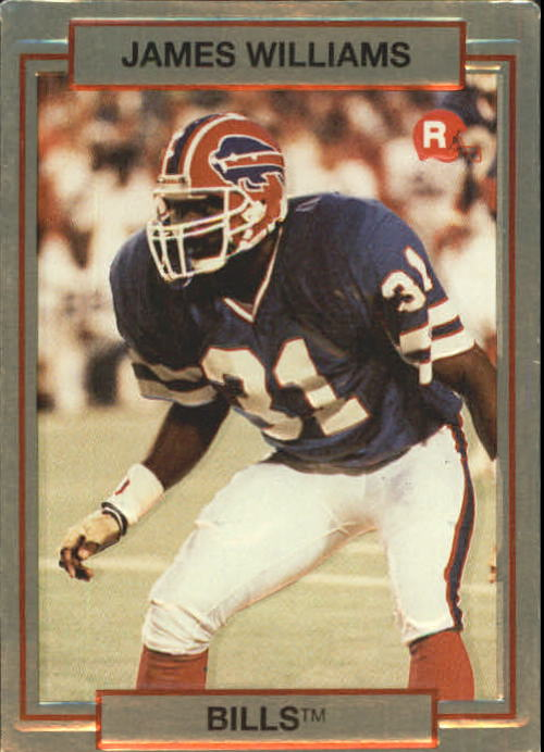 1990 Action Packed Rookie Update #3 James Williams DB RC