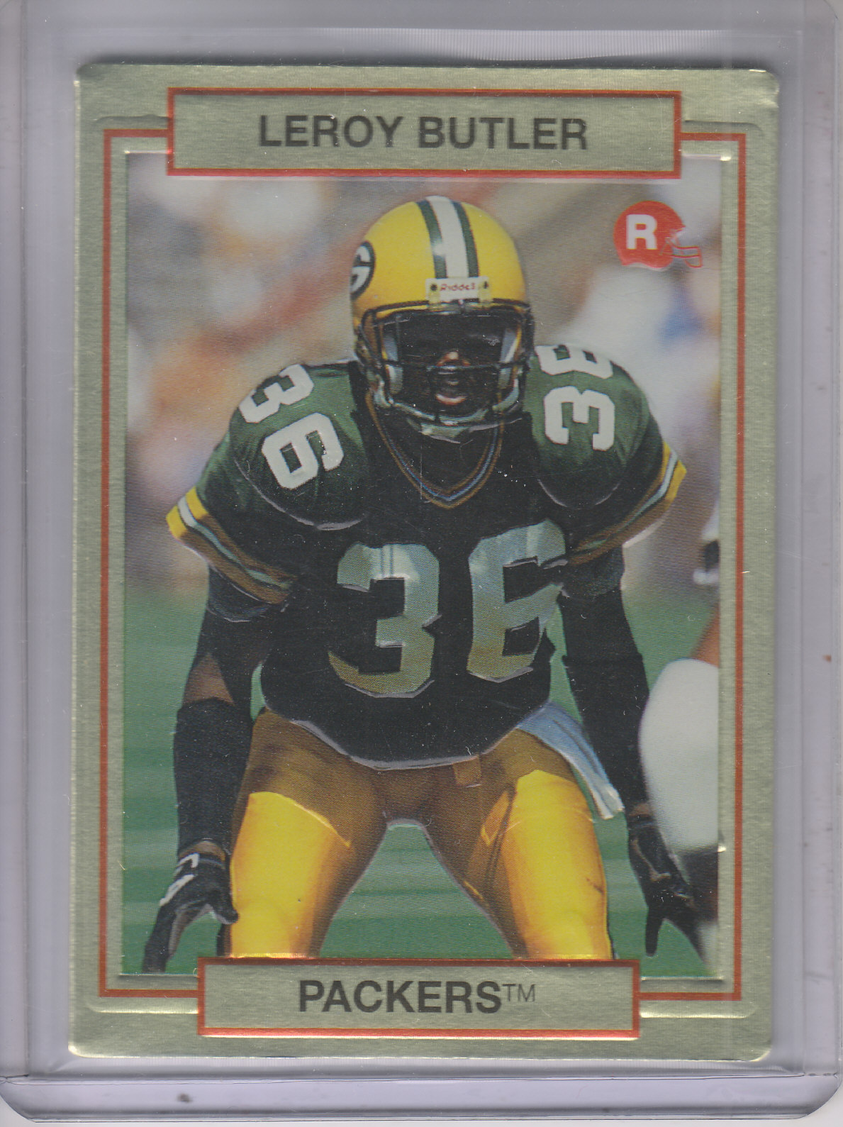 1990 Action Packed Rookie Update #10 LeRoy Butler RC