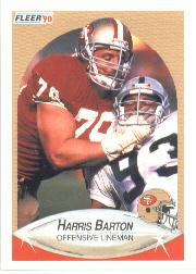 1990 Fleer #1 Harris Barton