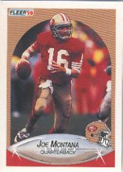 1990 Fleer #10A Joe Montana ERR
