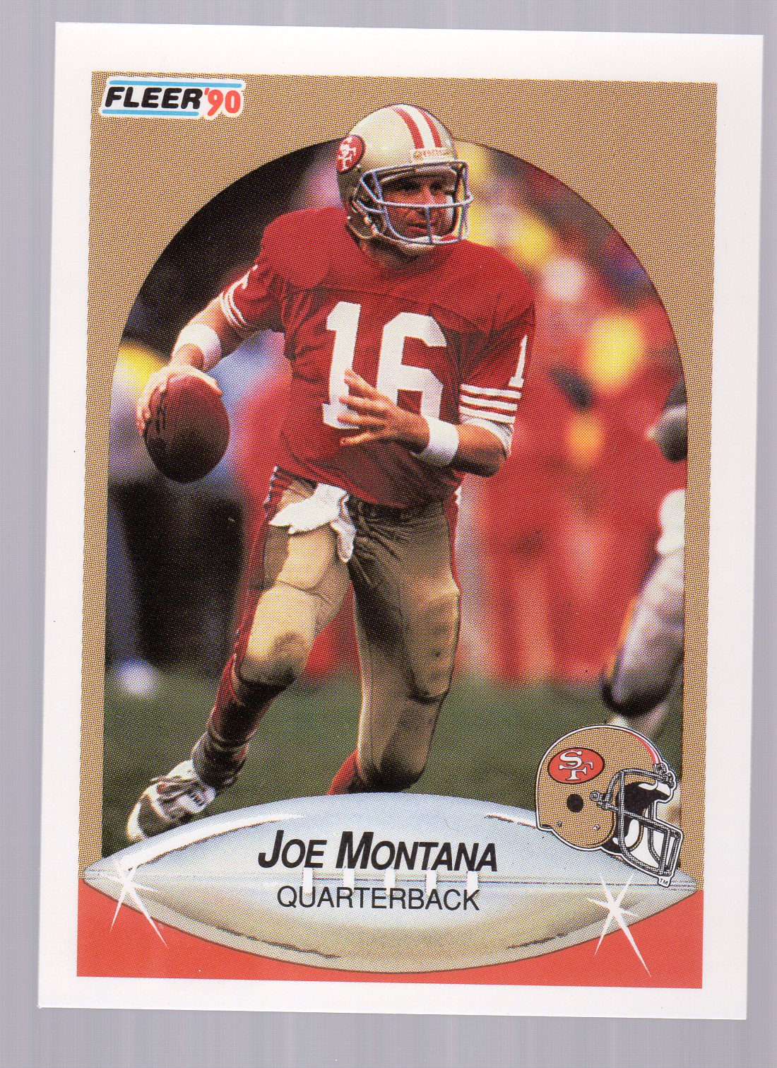 1990 Fleer #10B Joe Montana COR