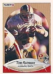 1990 Fleer #12 Tom Rathman