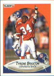 1990 Fleer #19 Tyrone Braxton