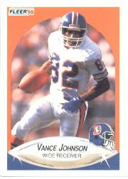 1990 Fleer #25 Vance Johnson