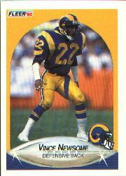 1990 Fleer #44 Vince Newsome RC