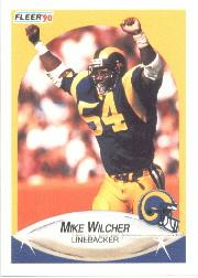 1990 Fleer #46 Mike Wilcher