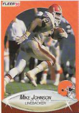 1990 Fleer #50 Mike Johnson