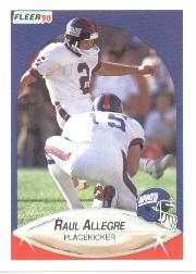 1990 Fleer #61 Raul Allegre